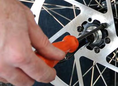 The bolts can be threaded back in to prevent loss while traveling.