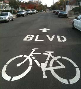 The AASHTO Guide to Bicycle Facilities recommends bicycle lanes established at a minimum of circumstances, bicycle lanes can be four feet wide.