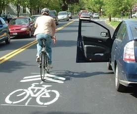 Shared markings can not justify a bicycle lane.