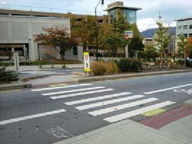 Making intersections more bicycle and pedestrian friendly is an important aspect of an inviting downtown.