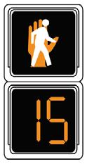 However, these signals may be used where the pedestrian change interval is less than seven seconds to inform pedestrians of the number of seconds remaining.