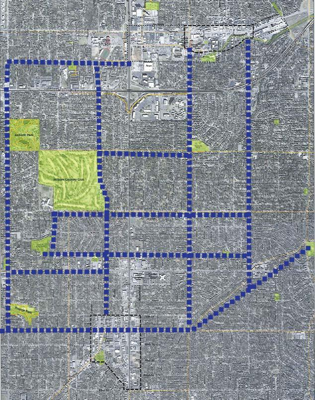 Figure 19: Public Feedback Map - Destinations and Routes between Overland Park and Mission Downtown Mission