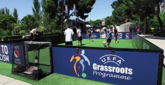 Grassroots Day chapter four Grassroots activities organised in connection with the Champions League final in Madrid in 2010 The idea of promoting grassroots football on a pan-european basis dates