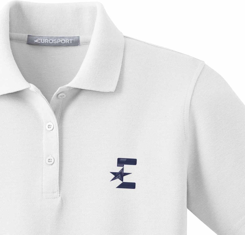 18.4 STAFF APPAREL (i) Polo Shirts, T-Shirts & Shirts 79 BRANDING: Wordmark & Monogram POSITIONING: Front: Monogram is on the left hand chest area and centered between the placket and the sleeve