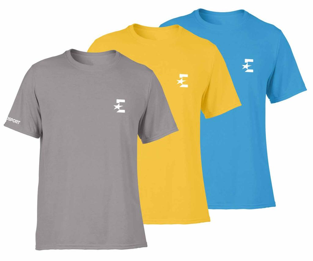 18.5 PROMOTIONAL ITEMS (vi) T-Shirt 89 BRANDING: Wordmark & Monogram POSITIONING: Front: Monogram is on the left hand chest area and centered between the placket and the sleeve (a).