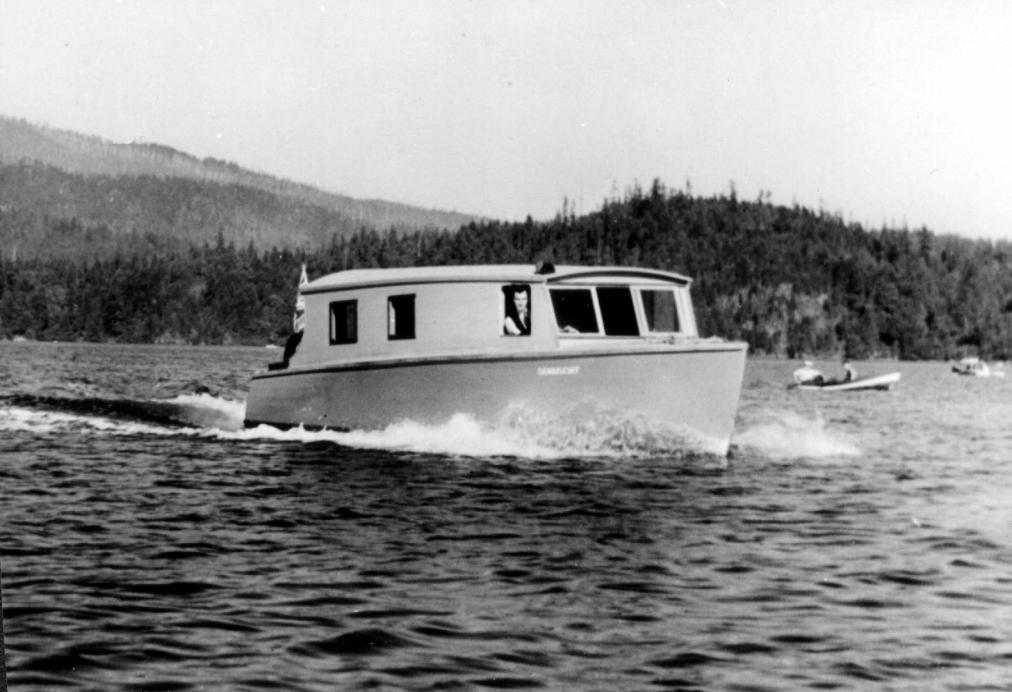 Courtesy Deep Cove & Area Heritage Association The Seabisquit Outside Bedwell Bay Now Madge takes pride in the deftness of her landings.