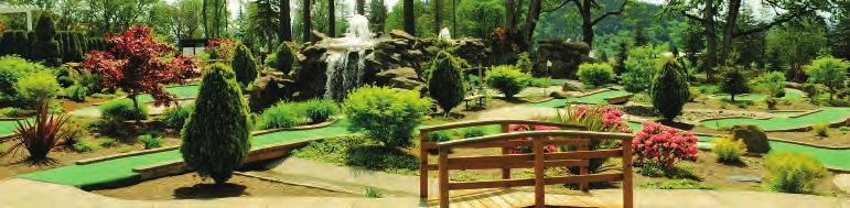 Miniature Golf Eagle Landing s scenic miniature golf courses provide the ideal recreational outing.
