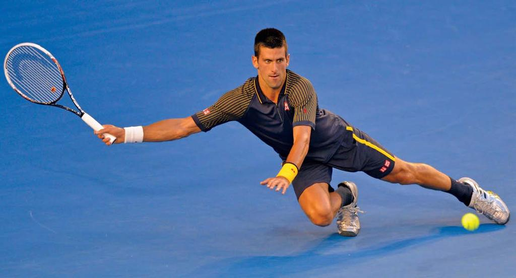 Image: Djokovic vs Andy Murray during the final of the Australian Open, 2013 which he went on to win. then help me to recover later on.