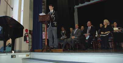Year 12 Farewell Assembly 2010 School Captain s Address There are some things you only ever get to do once.