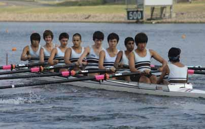 Rowing Second Year 10 Eight Bow: T.Chen, 2: M.Schwarz, 3: S.