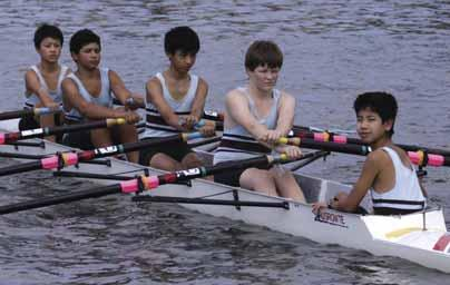 Rowing Third Year Eight Quad Scull Bow: P.Sim, 2: K.