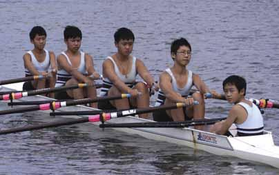 Rowing Fifth Year Eight Quad Scull Bow: J.Ma, 2: B.