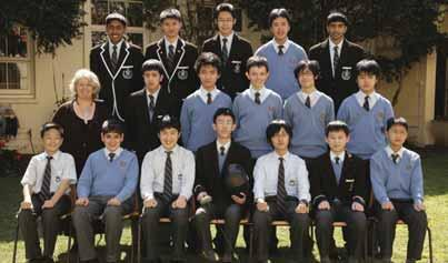 Fencing 15 Years Fencing Back Row: K.Dhamoon, A.Chan, T.Li, S.Ngo, S.Viswanadham. Second Row: Mrs J.