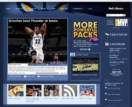 m e d i a INTRO PLAYERS OWNERSHIP FRONT OFFICE MEDIA Grizzlies.com Official Web site of the Memphis Grizzlies Stay connected to your home team with Grizzlies.