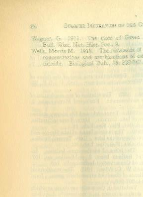 84 SUMMER MIGRATION OF THE CISCO Wagner, G. 1911. The cisco of Green lake, Wisconsin. Bull. Wisc. Nat.