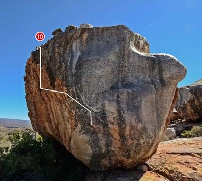 A4 The Best Jug In the World 6b Sit start as Hooker on Heels but climb out right using Nice holds to get to Jug.
