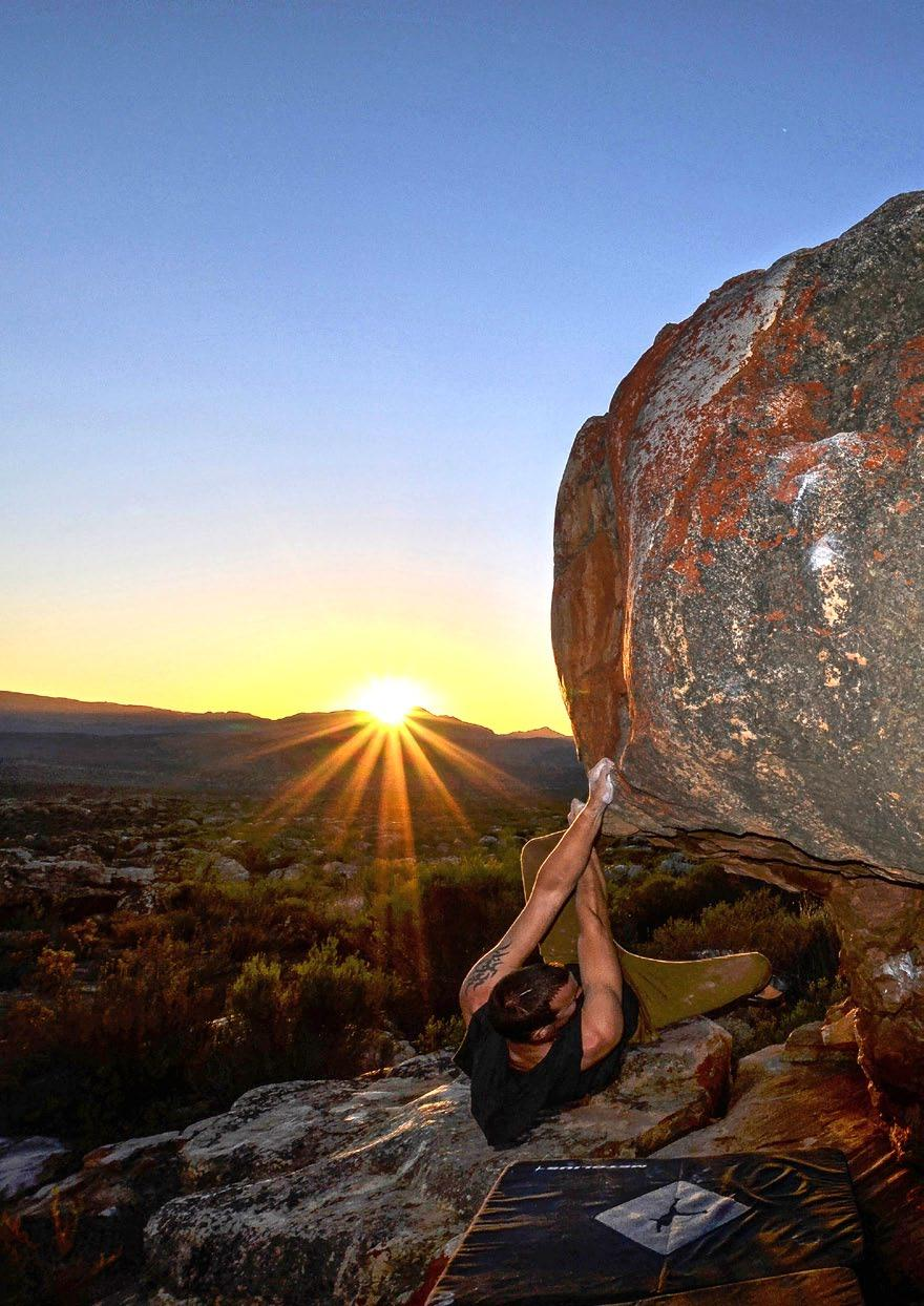 HOW IT ALL STARTED: Bouldering at Kagga Kamma was established in 2012 when an adventurous student started working at the Nature Reserve.