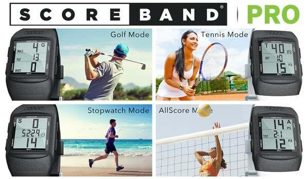 BRAND NEW SCOREBRAND PLAY GOLF AND TENNIS WATCH- Three scorekeeping modes (Golf/Tennis/AllScore) plus Time mode give ScoreBand PLAY all you need to keep your game on track.