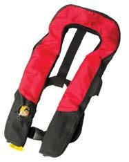 Inflatables have the advantage of being comfortable and easy to wear. Once inflated, the flotation is equal to or greater than traditional life jackets.