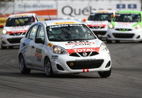 He indulged in the sport of racing by doing a few laps behind the wheel of one of Albi Nissan s Micras during a promotional activity on the track Friday morning.