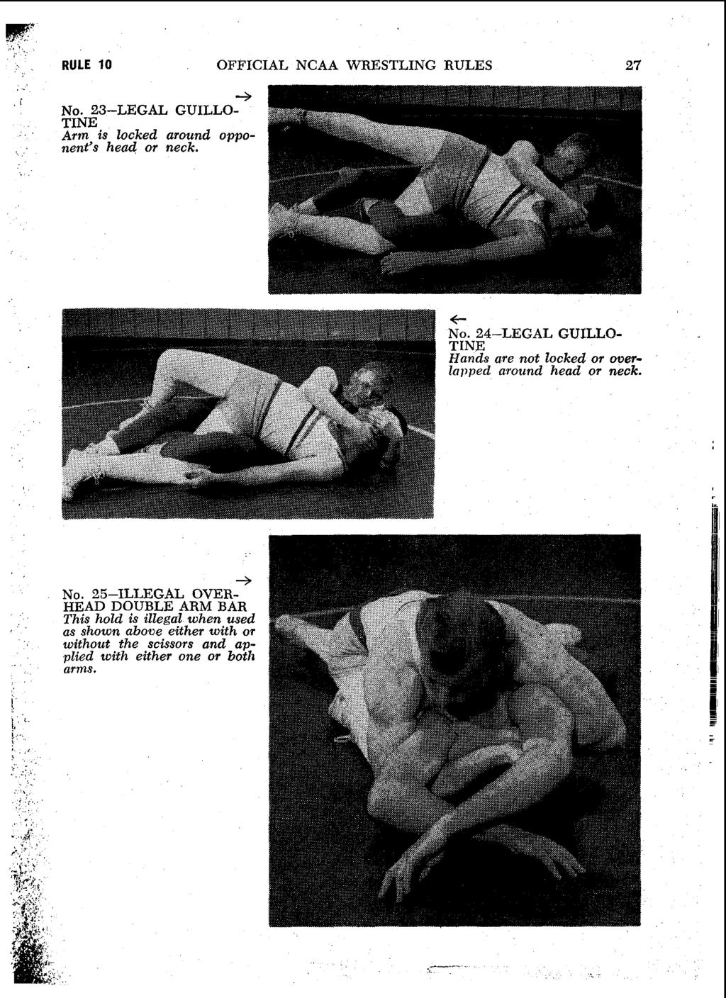 RULE 10 OFFICIAL NCAA WRESTLING RULES 27 + NO.