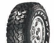 OFFROAD & EXTREME MT762 BIGHORN ON ROAD 20% OFF ROAD 80% TRACTION PUNCTURE RESISTANCE SELF CLEANING PLY RATING LT235/75R15 MT762 8 110/107Q 6.00 8.00 733 31X10.50R15 MT762 6 109Q 7.00 9.00 777 33X12.
