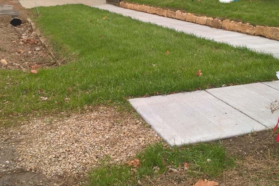 In 2014, repairs were made to an existing brick sidewalk using revenue from the City s General Fund.