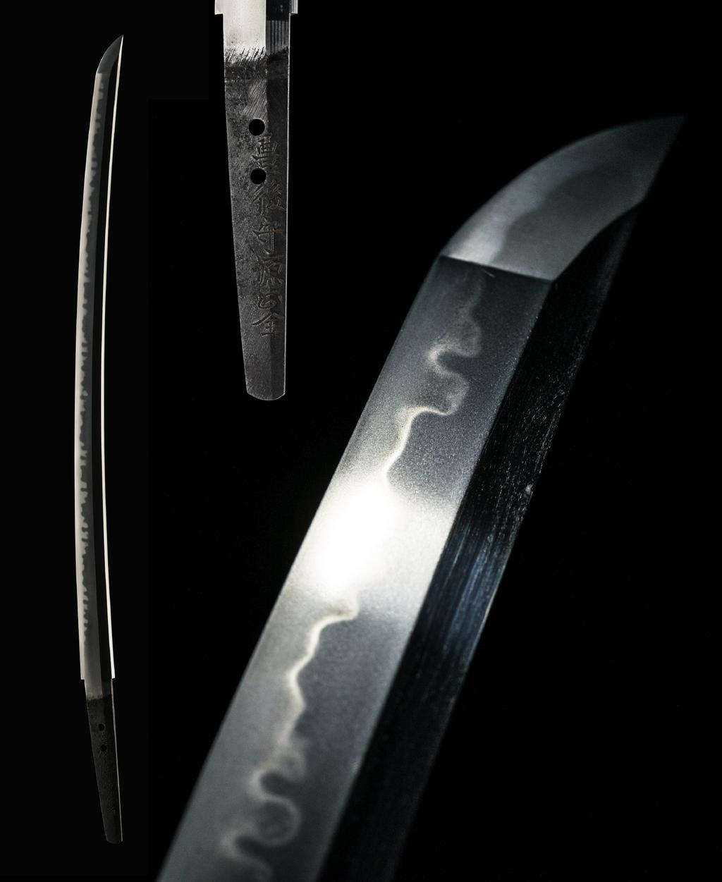 The hamon is a bright choji-midare that jumps off the blade. All hamon patterns are inherently unique, however, this temper line is one rarely seen on a sword. It s very beautiful.