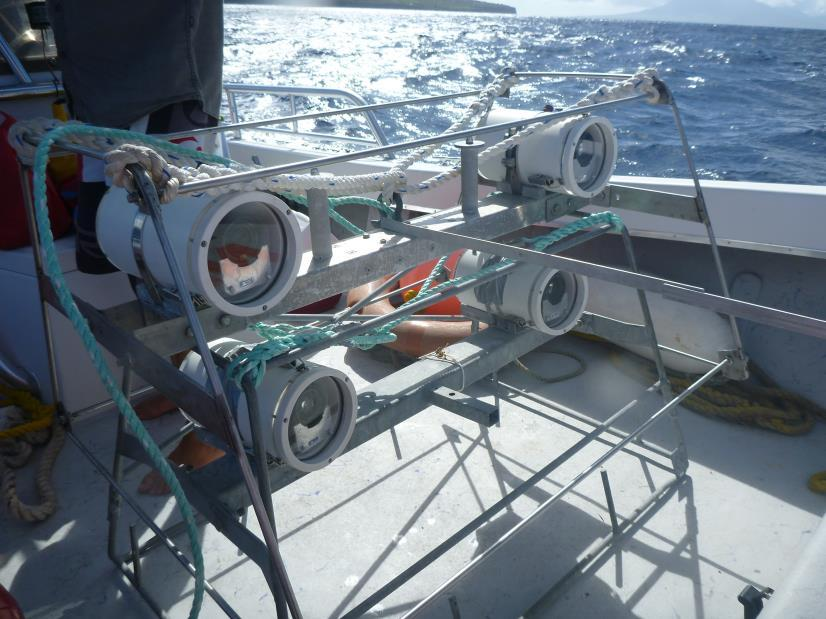 Figure 3. Two Baited Remote (stereo) Underwater Video setups ready for deployment (ie. dropping). 2.