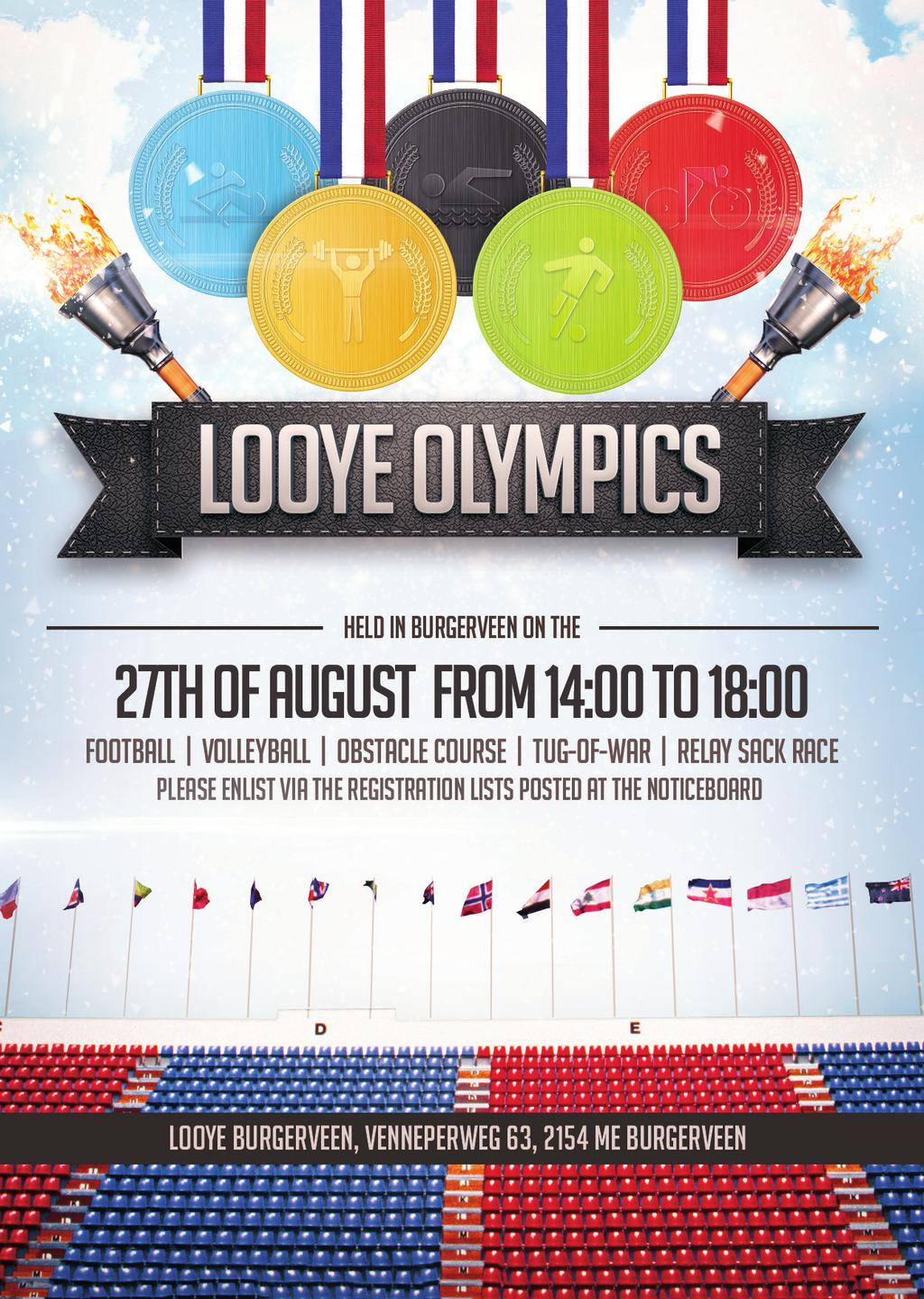 BUS TRANSPORT TO THE LOOYE OLYMPICS The following bus routes are available for the transport to the Looye Olympics: BUS A Time Location Address 11.