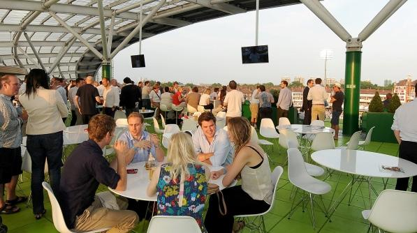 THE LOWER ROOF TERRACE Developed especially for the Investec Ashes 2013, this superb new area on the 3rd floor of the OCS Stand, offers fantastic views of the major London landmarks as well as