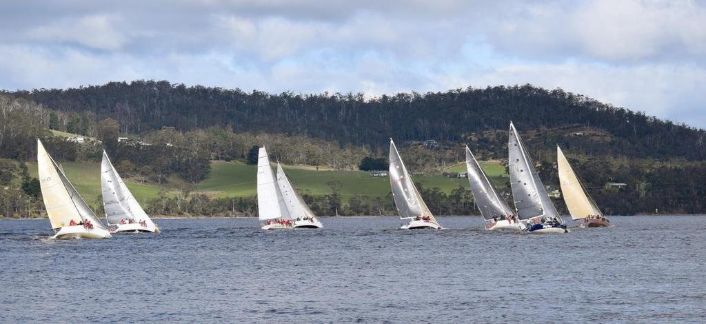 Race 1. Hobart to Gordon A combined fleet of Thirty-two yachts faced the Starter off Castray Esplanade, Hobart at 1900hrs. Friday night, 19 th September 2104.