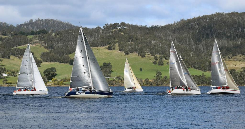 The trophy, which is awarded to the best-performed boat over three divisions, was won by Huon Yacht Club boat, Stan Pickering's Doven 30, Stan and his able crew came first on