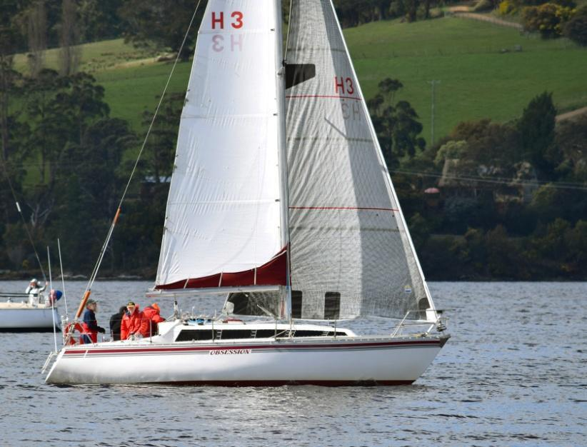 The closely contested race was over an approximately ten nautical mile course on the Huon River, starting and finishing at the HYC clubhouse, Shipwrights Point.