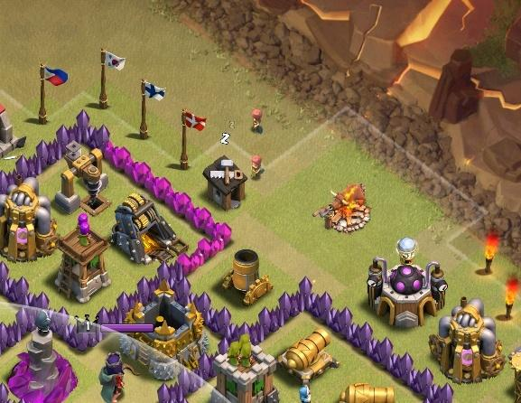 Important focus points: Anchor points Anchor points are the places where a single troop can be placed without being killed by a defense and pull the defending clan castle troops out where they can be