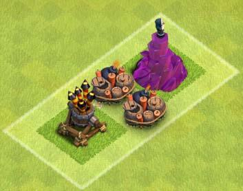 Giant bombs Your giant bombs are the single most important defense against the TH 8's pinnacle attack troop, the Hog Rider.
