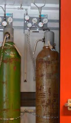 Gases and gas cylinders 2 Gas cylinders are potentially dangerous. When handled incorrectly, they can shoot off like a rocket or explode.