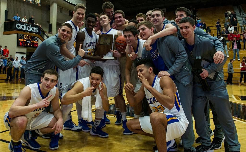 By RICHIE HALL Reporter Sports Editor The second quarter helped the Carmel boys basketball team finish first in the sectional.