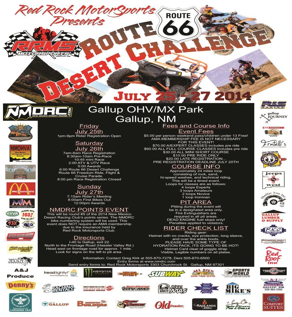 EVENTS: -BRING OHV