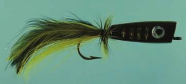 SALTWATER POPPERS BLACK YELLOW HOLOGRAPHIC