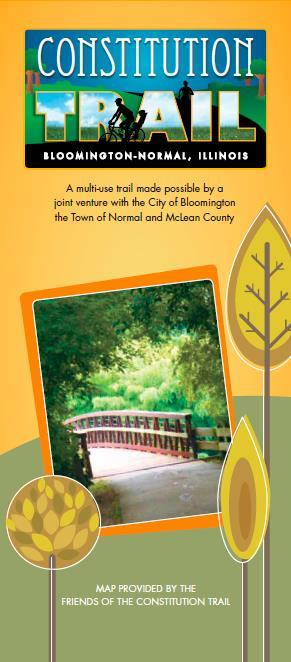 Encouragement Suggestions for encouraging visitors or residents to explore Bloomington by bicycle include: Distribute the Friends of the Constitution Trail s Bloomington-Normal bicycle map showing