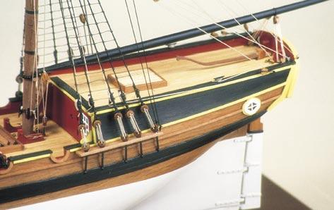 She was also the first to sail into Port Jackson. H.M.Brig Supply is now known as the ship from which Australia was founded. The kit of H.M.Brig Supply has been designed with the novice builder in mind.