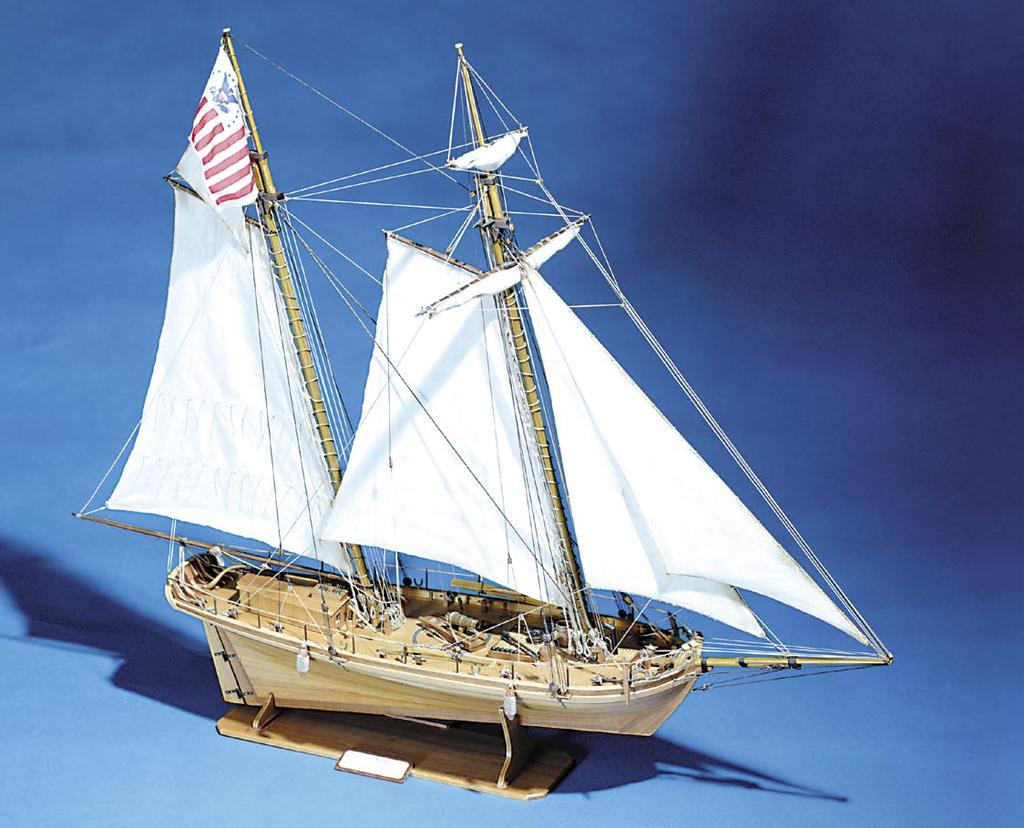 KRICK ~ ALERT Part No. K20240 Scale: 1:24 Length: 876mm Width: 360mm Height: 695mm Alert is one of many cutters built in the early 1800's to aid the curtailing of smuggling.