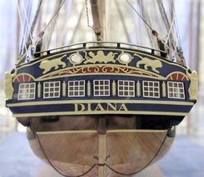 On the 27th August 1816 Diana was one of 6 Frigates in the Dutch squadron that combined with the British fleet under Sir Edward Pellow (Lord Exmouth), himself a distinguished Frigate captain, and
