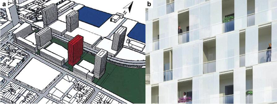 a high-rise (78 m) building in the city of Antwerp. CFD simulations are performed for the building with and without second-skin facade concept implemented.
