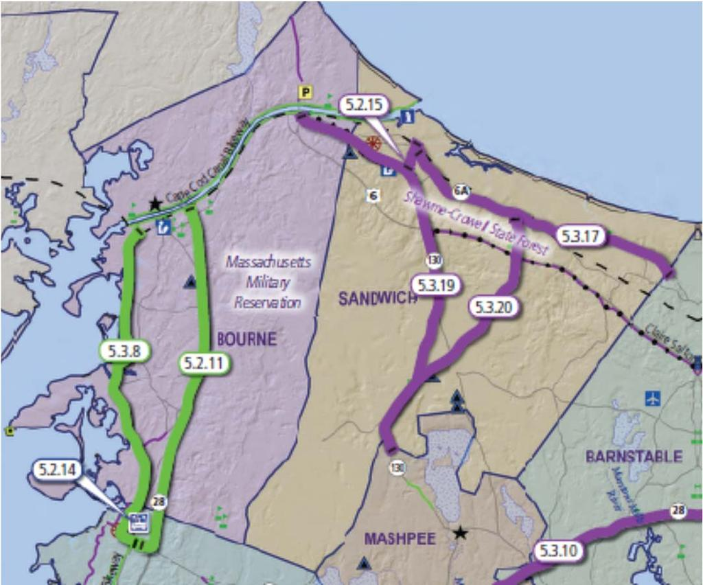 FIGURE 2 - LOCAL BIKE ROUTES STUDY GOALS The goals developed for the 2010 Bicycle Feasibility Study: Integrated Bicycle Plan for Cape Cod were adopted for this study and incorporated into the