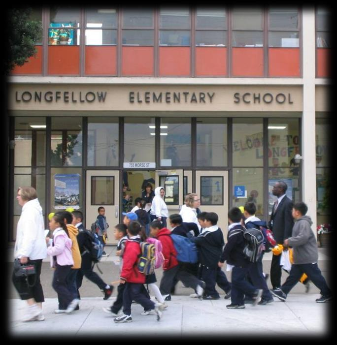 3 Safe Routes to School Program Overview Goal: to increase safe and active walking and biking to/from school Leading multi-disciplinary team comprised of SFUSD, City agencies, and nonprofits Working