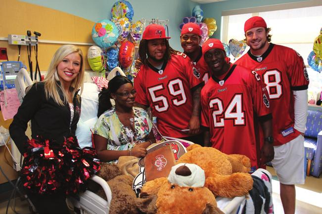 The Buccaneers gave away a once-in-a-lifetime experience to five mothers from Central Florida for the team s Mother s Day Makeovers program.