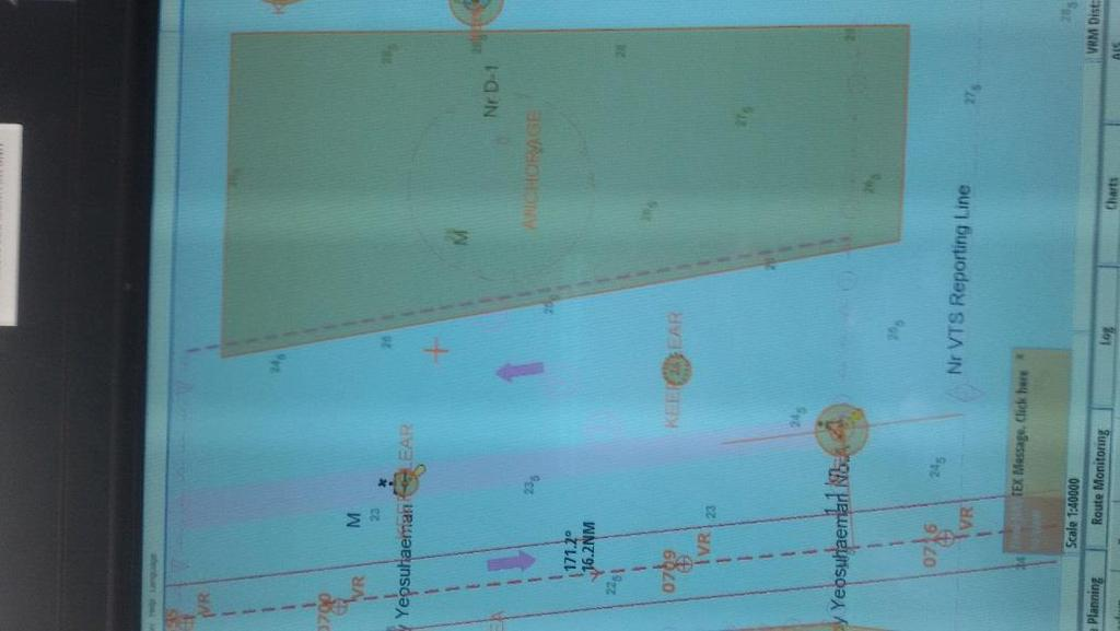 ENSURE ECDIS IS ON CUSTOM DISPLAY throughout the passage. Several charted objects are not visible in STANDARD display.