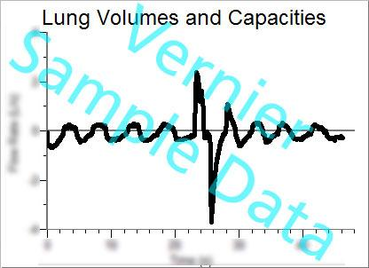 Lung Volumes and Capacities 1. The Spirometer should be held vertically and steadily. It is helpful to brace at least one arm on a hard surface, such as a table.